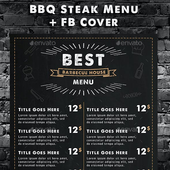 Bbq Menu Template Graphics Designs Template From Graphicriver