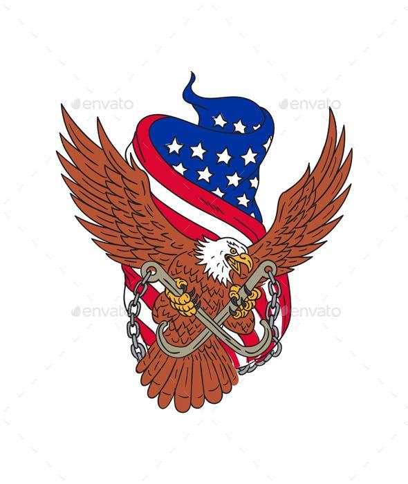 American Eagle Usa Flag Drawing By Patrimonio Graphicriver