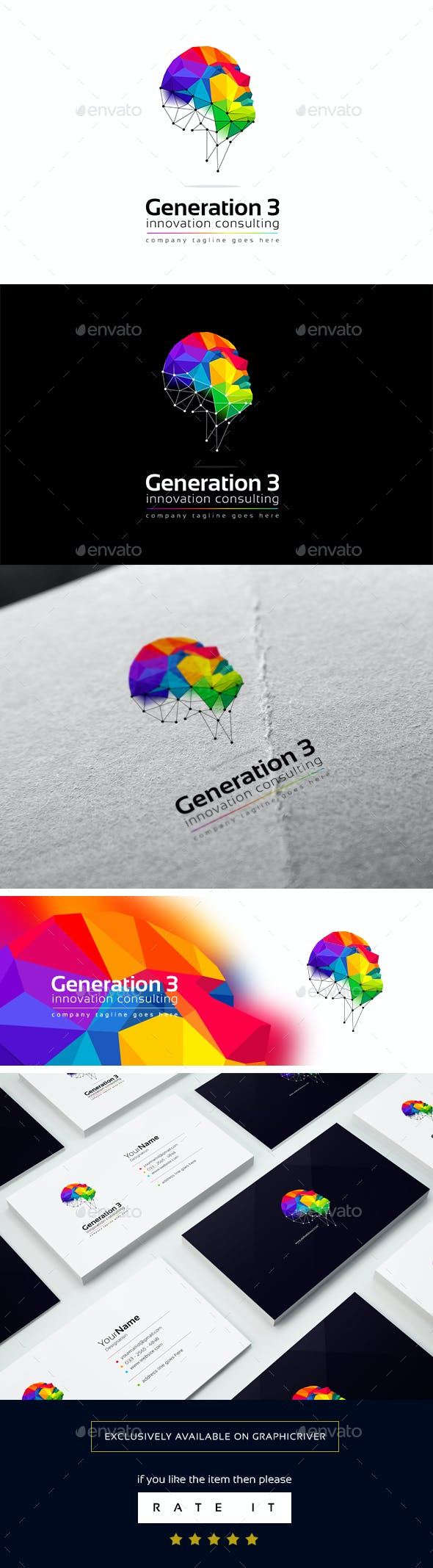 generation 3 logo template by golden cursor graphicriver