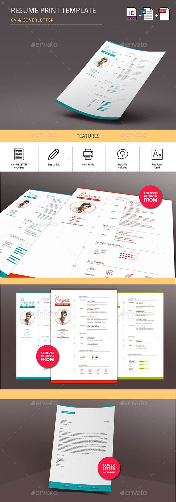 jennifer resumecv print template resumes stationery