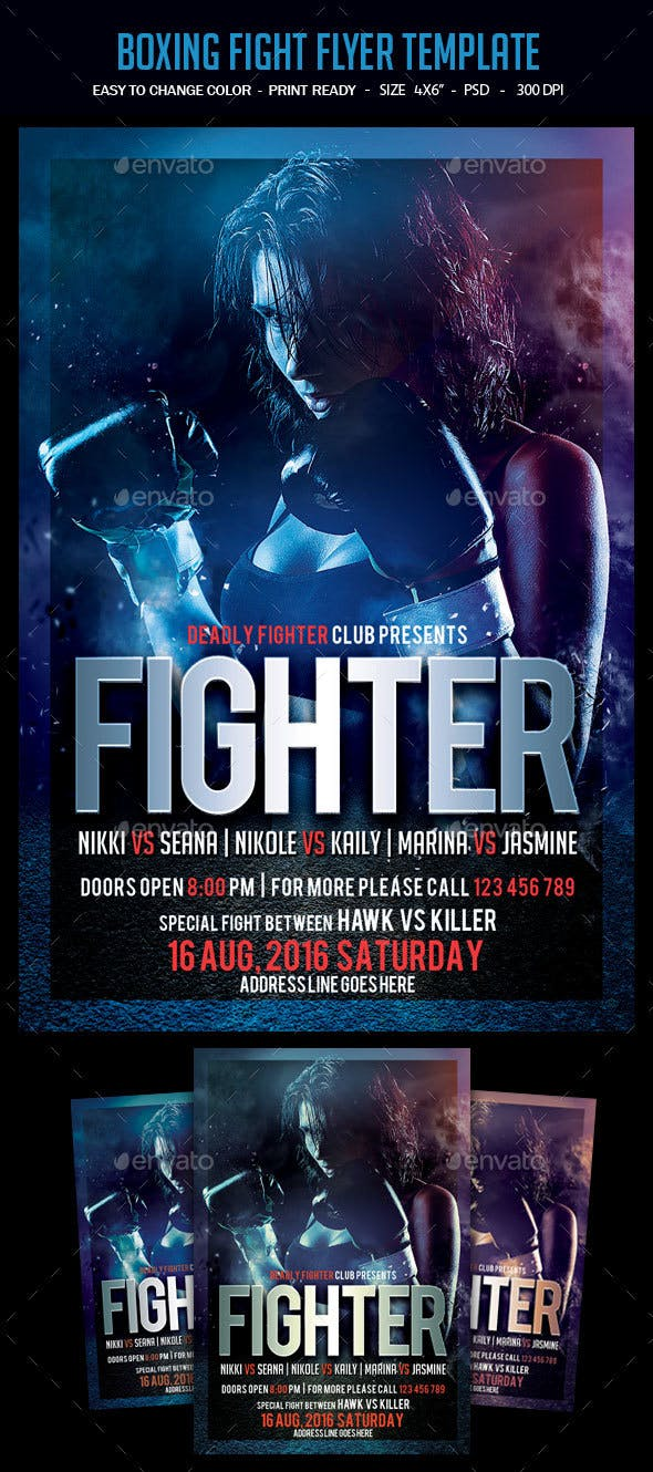 boxing fight flyer template by studiorgb graphicriver