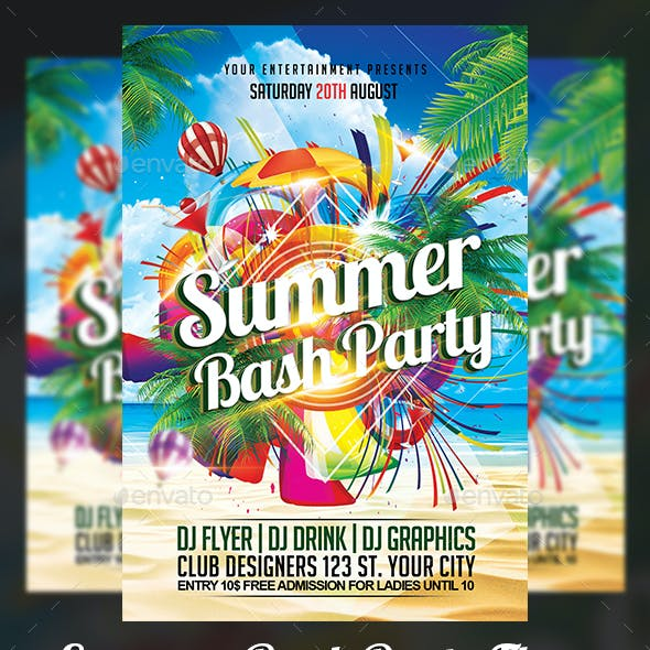 blue summer flyer templates from graphicriver