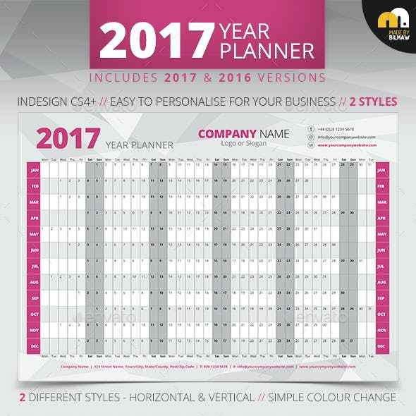 wall planner graphics designs templates from graphicriver