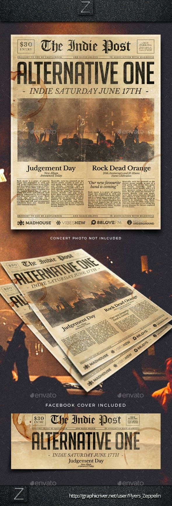 newspaper flyer template vol 2 by flyers zeppelin graphicriver