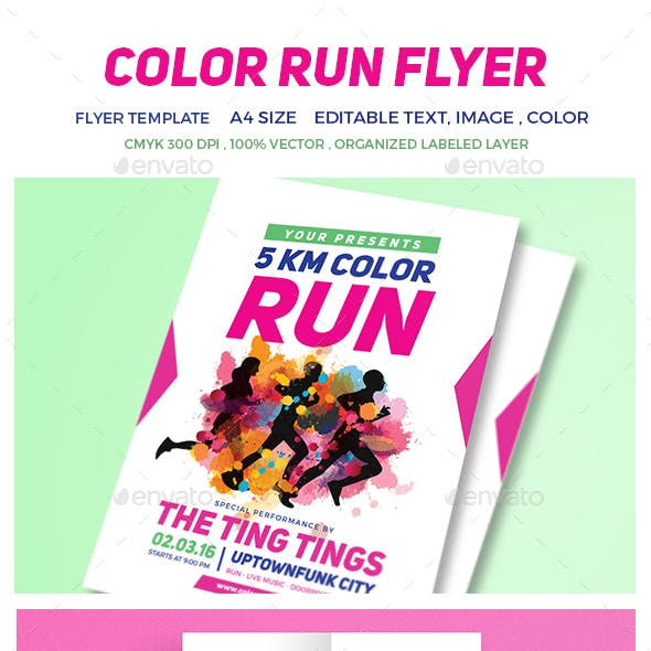 color run graphics designs templates from graphicriver