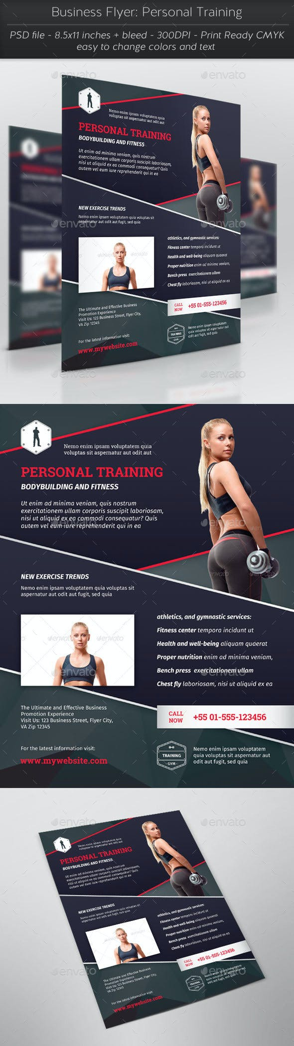 business flyer personal training by thefaint graphicriver