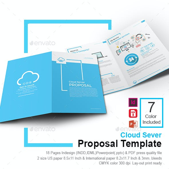 Cloud Server And Creative Graphics Designs Templates