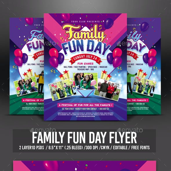 Family Flyer Graphics, Designs & Templates From GraphicRiver