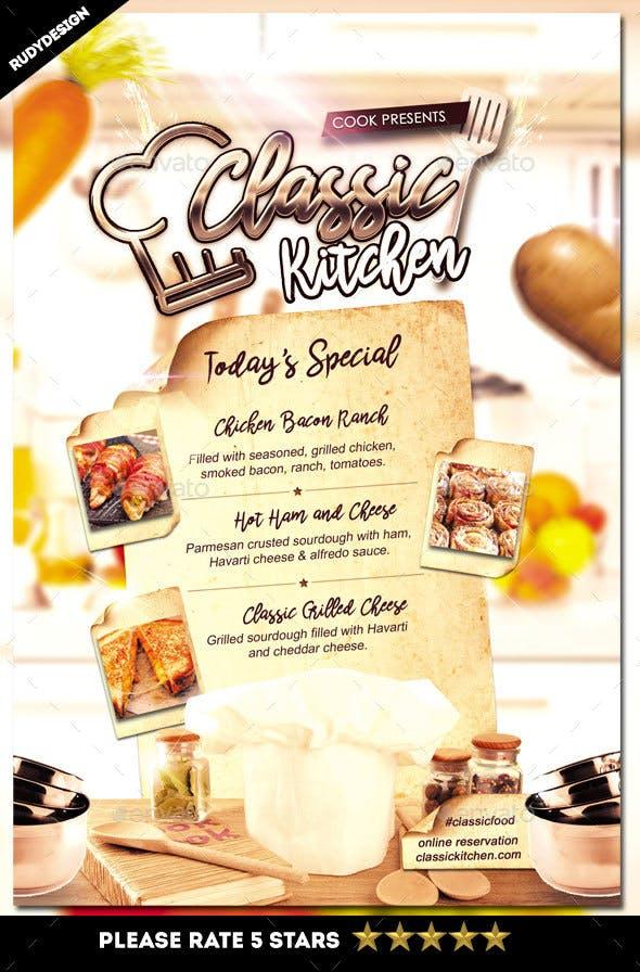 restaurant menu flyer by rudydesign graphicriver