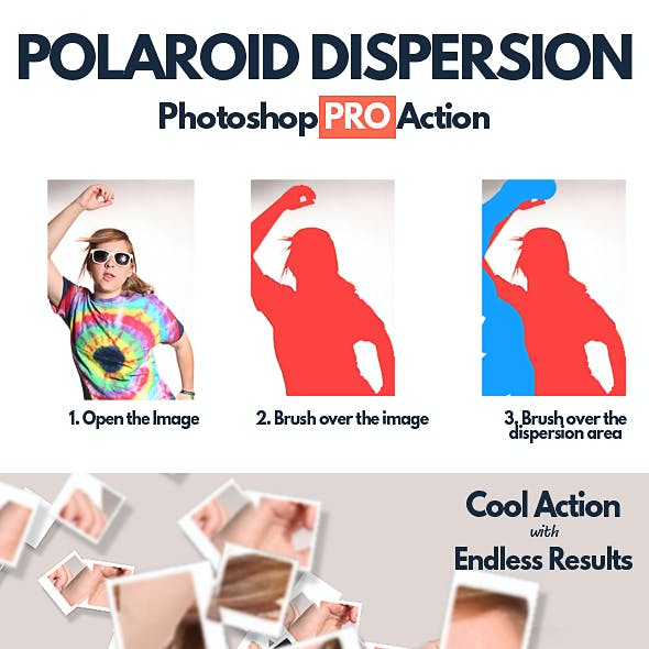 Photoshop Photo Frame and Polaroid Effect Graphics, Designs & Template