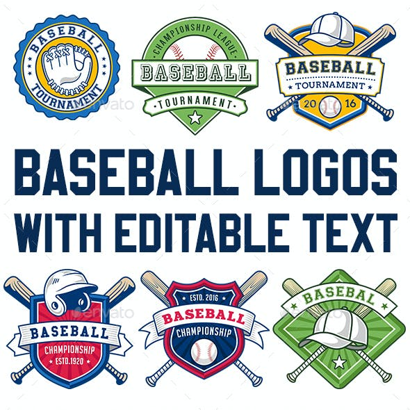 baseball logo graphics designs templates from graphicriver