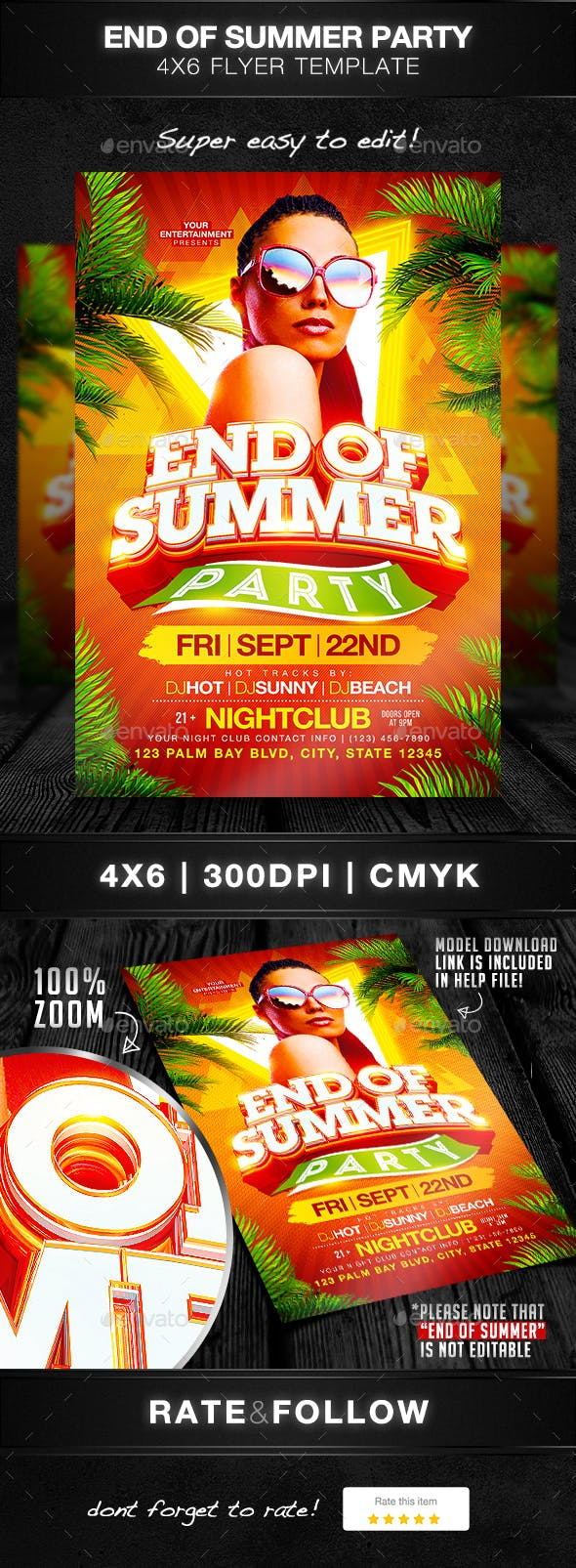 end of summer party flyer template by designsbydior graphicriver