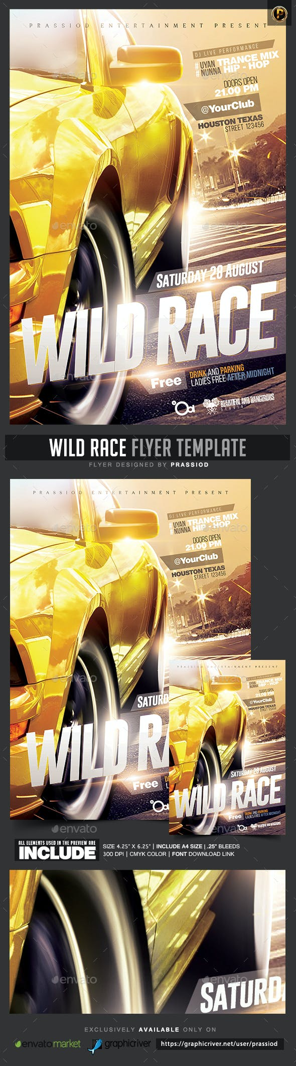 wild race flyer template by prassiod graphicriver