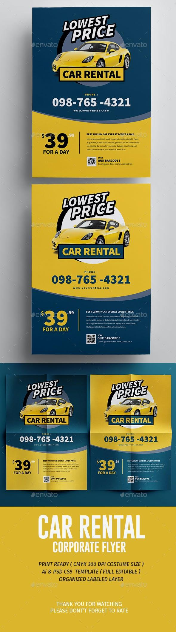 car rental flyer by tokosatsu graphicriver
