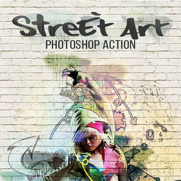 Street art graphics designs templates from graphicriver street art photoshop action maxwellsz