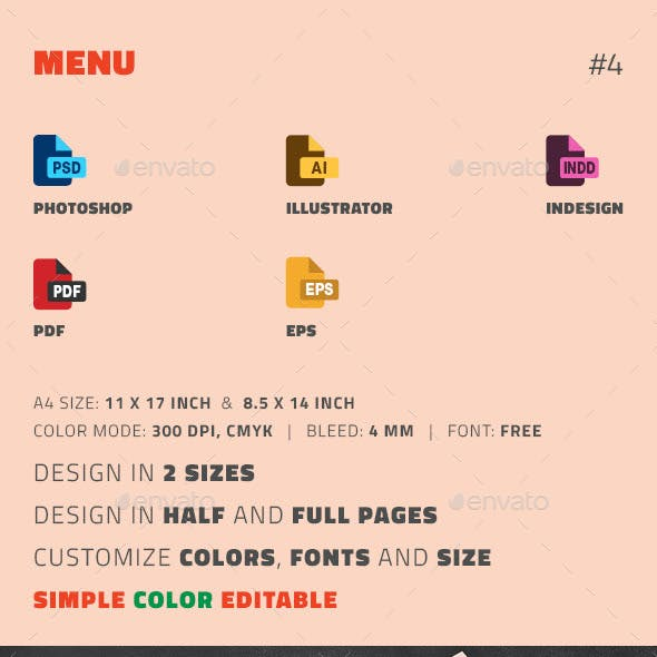 menu templates from graphicriver page 21
