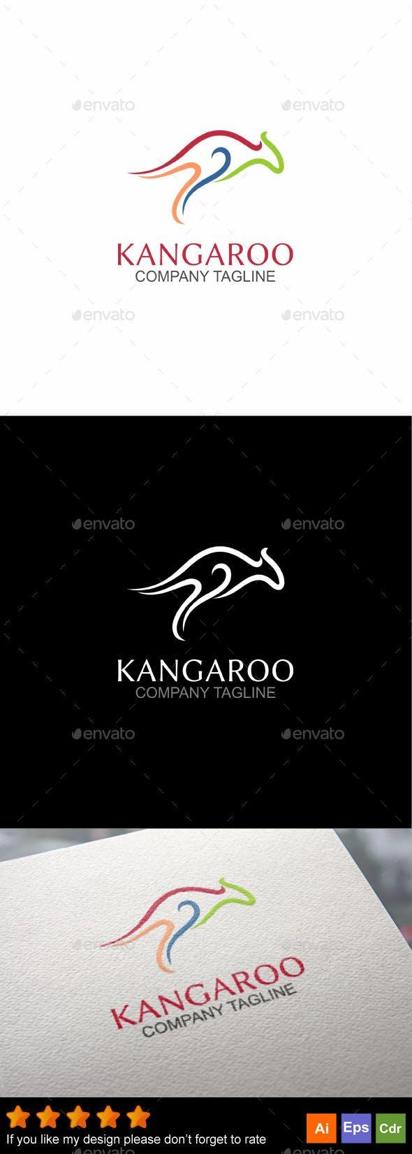 kangaroo logo template by goldencurve graphicriver