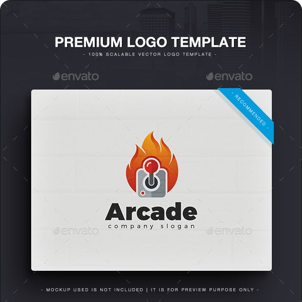 arcade logo templates from graphicriver