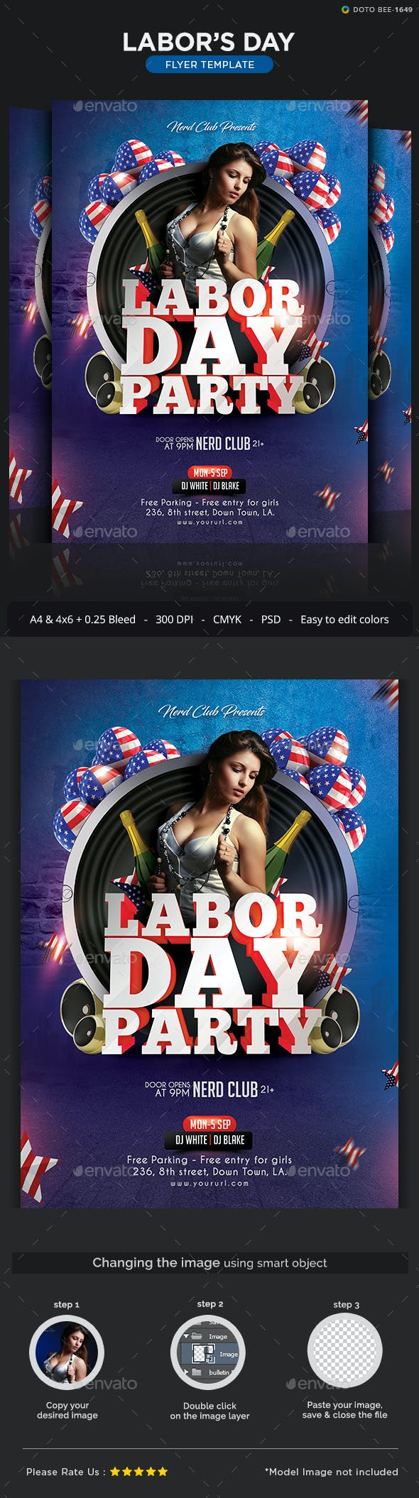 labor day party flyer template 2 sizes by hyov graphicriver