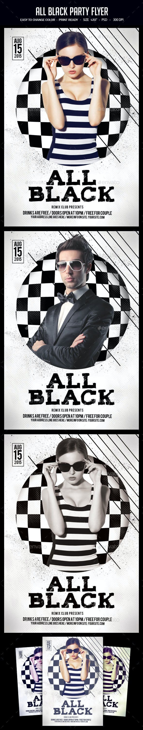 all black party flyer by studiorgb graphicriver