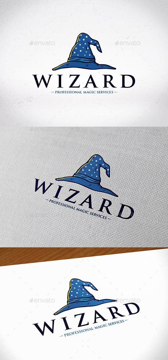 wizard hat logo template by bosstwinsmusic graphicriver