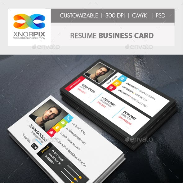 Resume Business Card