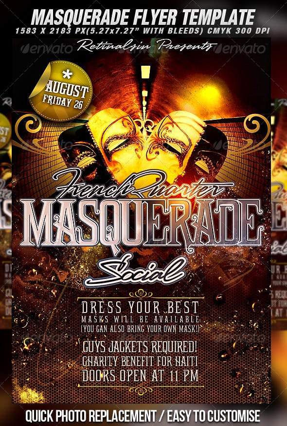 masquerade flyer template by mexelina graphicriver