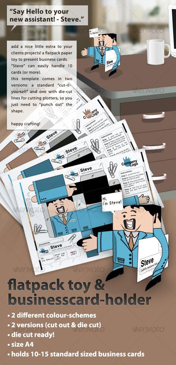 Flatpack Papertoy Businesscard Holder Steve By Leo242