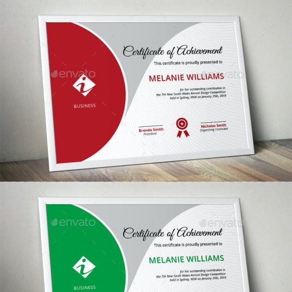 Certificate Template Modern Graphics Designs Templates