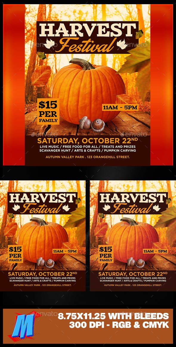 harvest festival flyer template by megakidgfx graphicriver