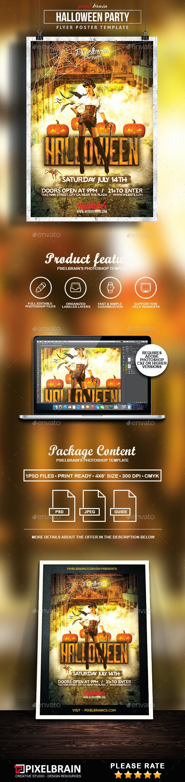 halloween flyer template by pixelbraincs graphicriver