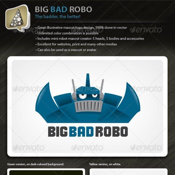 Bigbadrobo Strong Illustrative Robot Mascot Logo By Louisdavilla