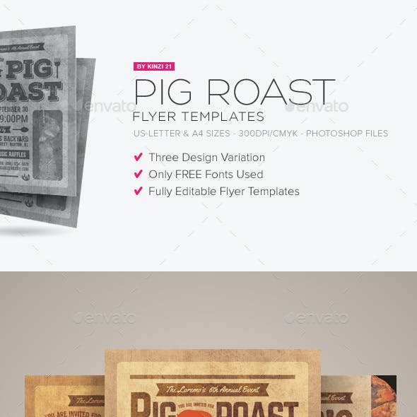 hog roast graphics designs template from graphicriver
