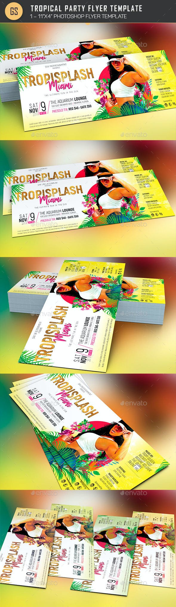 tropical party flyer template by godserv2 graphicriver