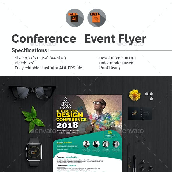 conference event flyer graphics designs templates