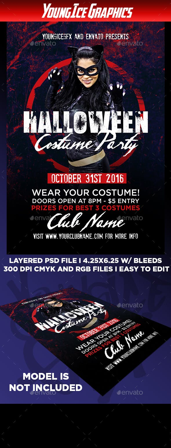 halloween costume party flyer by youngicegfx graphicriver