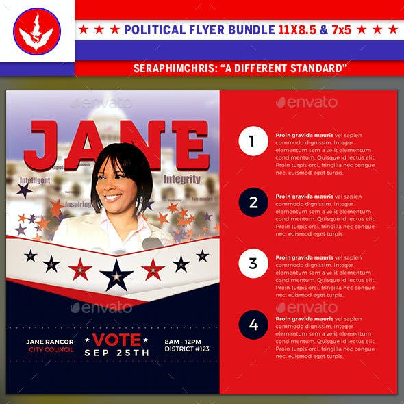 political flyer graphics designs templates from graphicriver