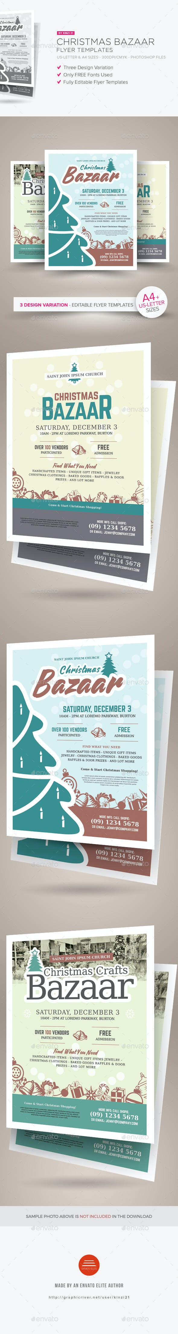 christmas bazaar flyer templates by kinzi21 graphicriver
