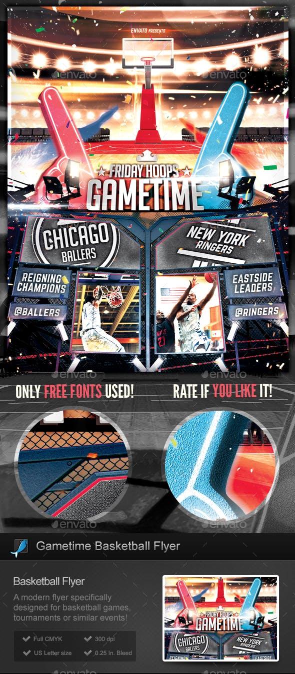 basketball gametime tournament flyer template by stormdesigns