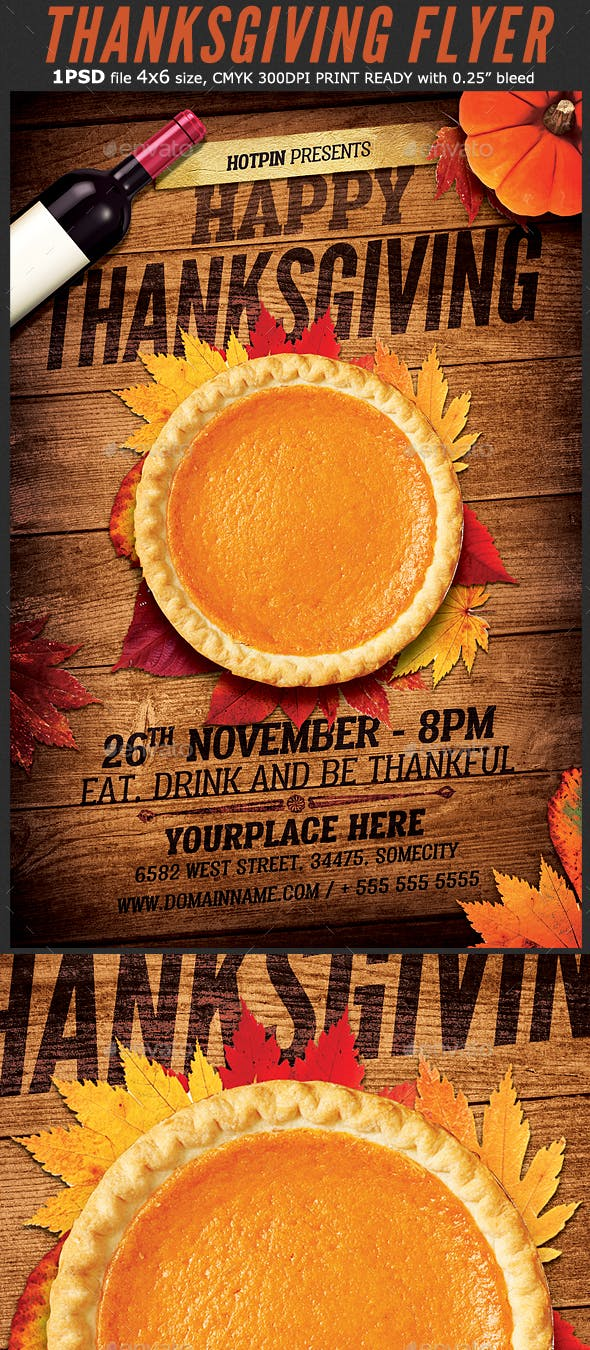 thanksgiving flyer template by hotpin graphicriver