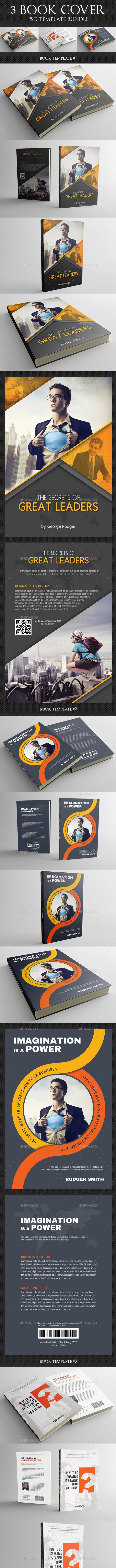 3 Corporate Book Cover Template Bundle V3 By Rapidgraf Graphicriver