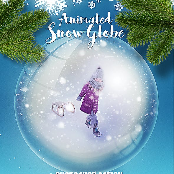 snow globe psd graphics designs template from graphicriver