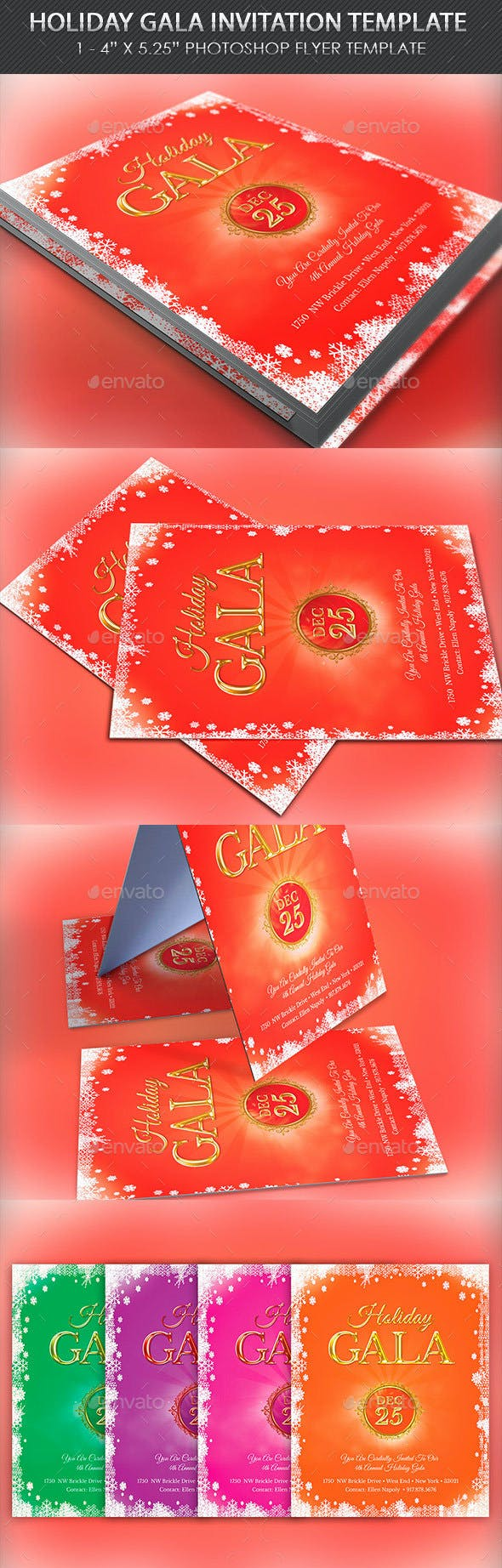 holiday gala invitation template by 4cgraphic2 graphicriver