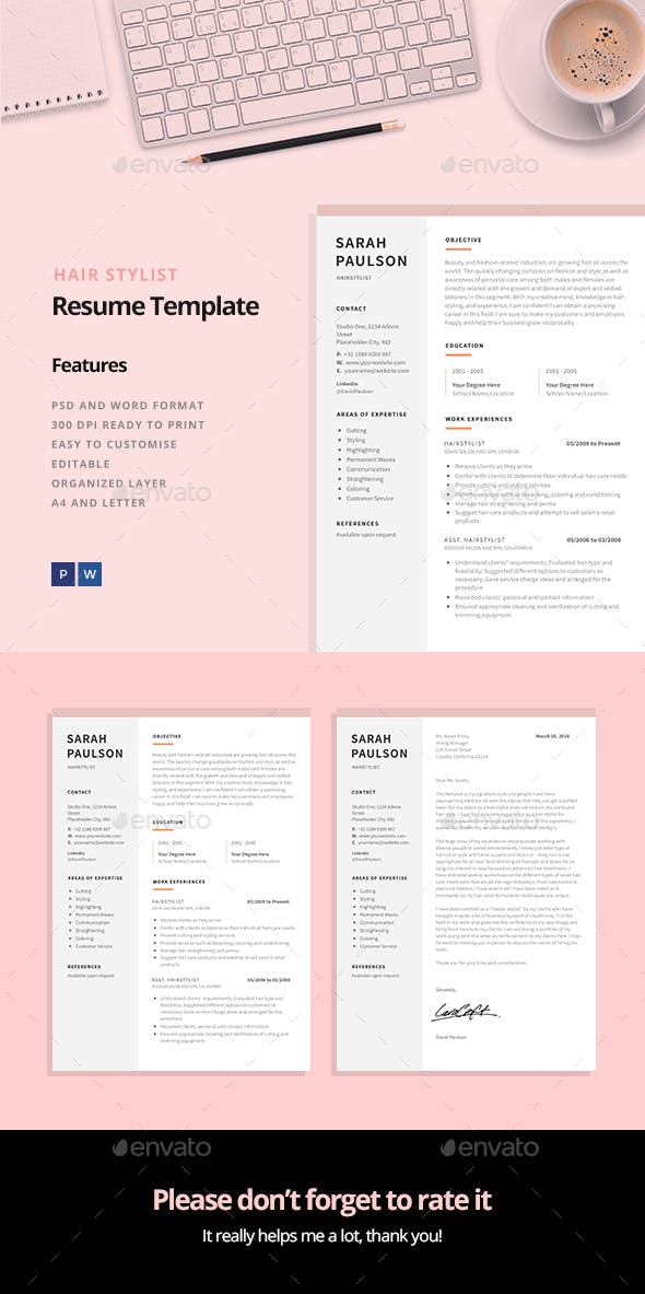 hair stylist resume template
