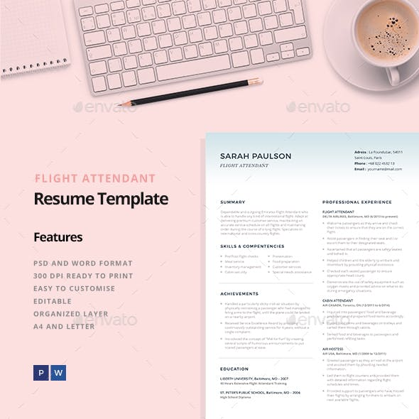 Browse 1 Air Hostess Resume Graphics Designs Template From 12 All Our Global Community Of Graphic Designers