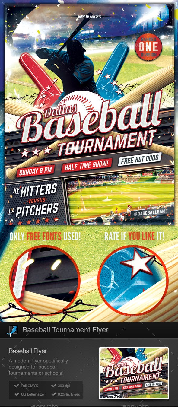 baseball tournament flyer template by stormdesigns graphicriver