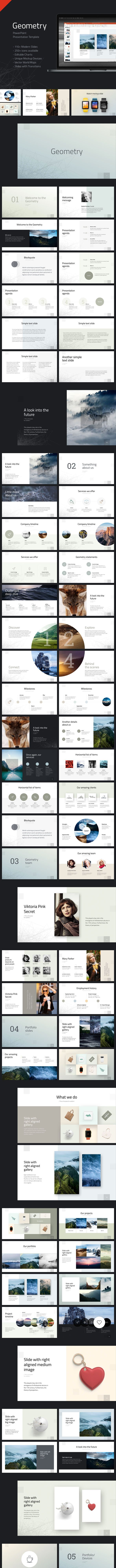 geometry powerpoint presentation template by reworkmedia graphicriver