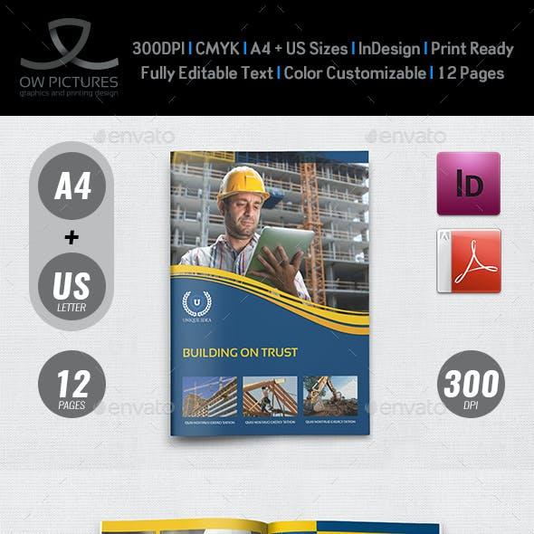 construction brochure graphics designs templates