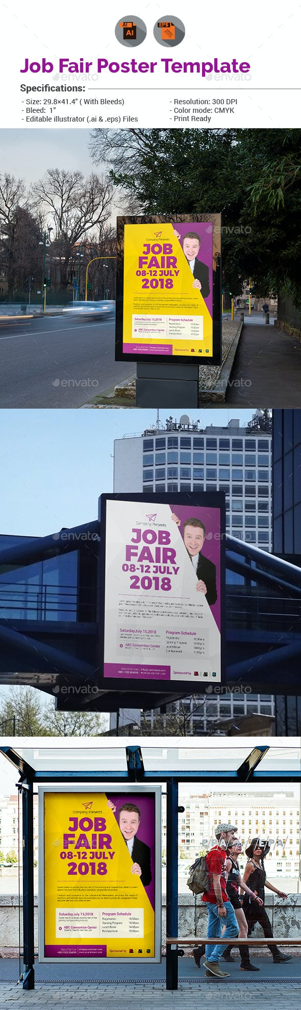 job fair poster template v1 by aam360 graphicriver