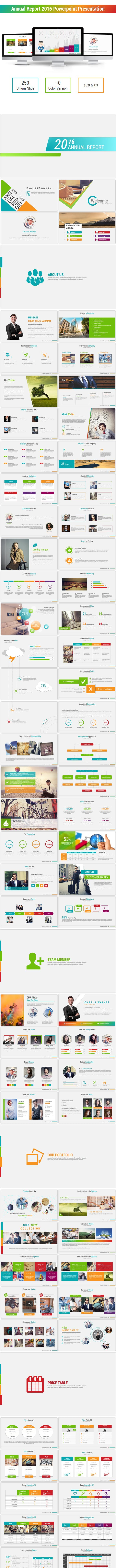 annual report 2016 powerpoint presentation templates by physicteach2016